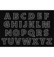 Alphabet in style of a technical drawing vector image