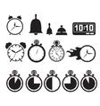Icon set clocks vector image vector image