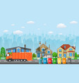 City waste recycling concept vector image