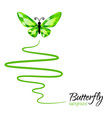 Diamond butterfly flying up vector image vector image