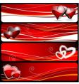 Valentine's day banner vector image