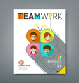 Cover annual reports colorful teamwork concept vector image