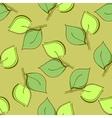 Seamless leaf pattern vector image