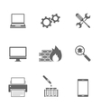 Computer Service Icons Set vector image