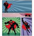 Superhero Banners 4 vector image