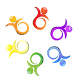 Teamwork flower logo vector image