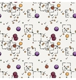 Hand drawn doodle seamless pattern vector image
