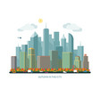 autumn city concept urban landscape vector image