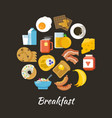 breakfast concept fresh and healthy food vector image