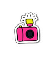 camera doodle icon vector image