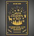 Christmas party happy new year poster vector image