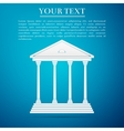 Courthouse flat icon on blue background vector image