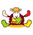 Fancy a sheep logo vector image