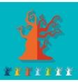 Flat design tree vector image
