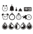 Icon set clocks vector image