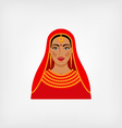 Indian woman in traditional clothes vector image
