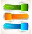 Set of colorful tags vector image