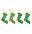 cartoon cute christmas stocking vector image