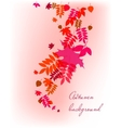 Autumn leaves falling background vector image