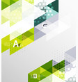 color transparent trianlge tiles with infographic vector image vector image