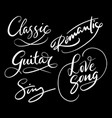 love song and romantic hand written typography vector image