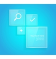 Style design with web icons vector image
