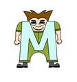 Child english alphabet letter m vector image