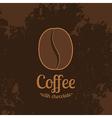 Dark Textured Background with Coffee Bean vector image