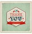 Card Thank You vector image