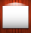 empty frame on wooden with light - vector image vector image