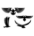 eagle symbols and tattoo vector image vector image