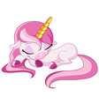 sleeping unicorn vector image