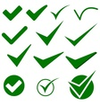 Check Mark Object Icons vector image