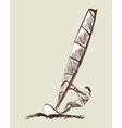 Windsurfing sketch vector image
