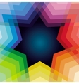 Abstract background with rainbow and star vector image
