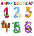 birthday greeting card set vector image