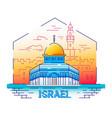 israel - modern line travel vector image