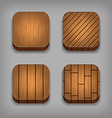 Set of wood textured buttons vector image