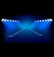 spotlights shining background vector image