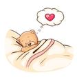 Teddy Bear sleeps vector image