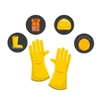 safety industry equipment flat icons vector image