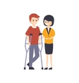 Physically Handicapped Person Living Full Happy vector image