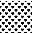 seamless pattern with hearts black hearts on vector image
