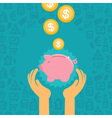 piggy bank concept in flat style vector image