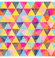 Geometry pattern of colorful triangle with texture vector image