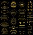 Set of vintage frames set and design elements vector image