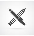 Pen and Pencil black icon vector image vector image