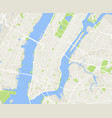 new york and manhattan urban city map vector image