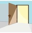 Opened door Concept vector image