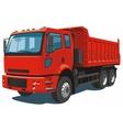 Red dump truck vector image vector image